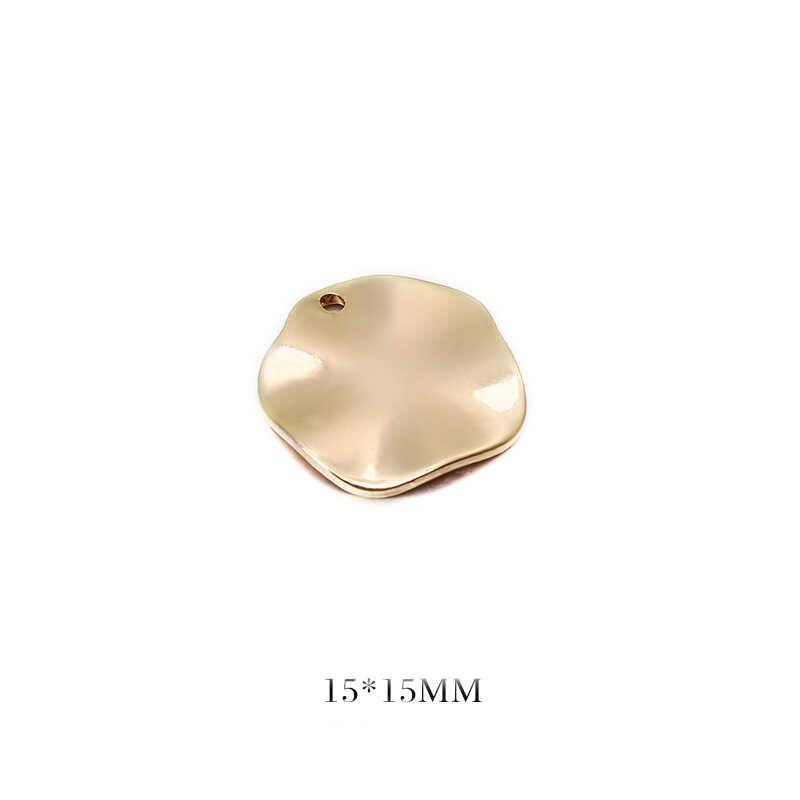 20Pcs 24K Gold Plated Brass Ronde Schijf Hangers Bedels Voor Diy Sieraden Maken Bevindingen Accessoires