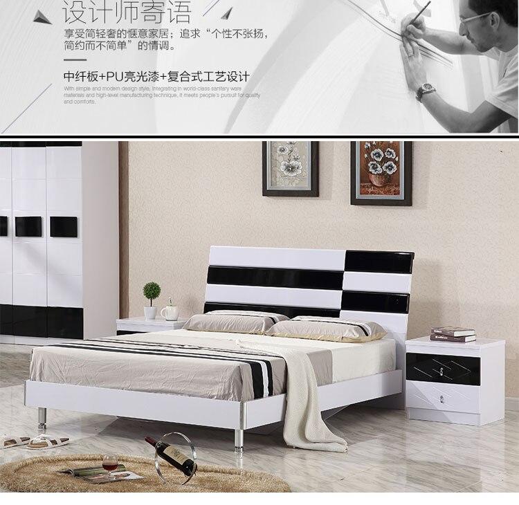 black modern bedroom furniture. Modren Black White And Black Modern Beds Hot Selling Simple Bed For Bedroom Furniture  Set _01 0058_01 0058_02 0058_03 0058_04 0058_05  To Black Modern Bedroom Furniture