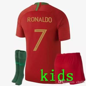 2018 world Custom Red Home White Away Children T-shirt suit 8cc951c36