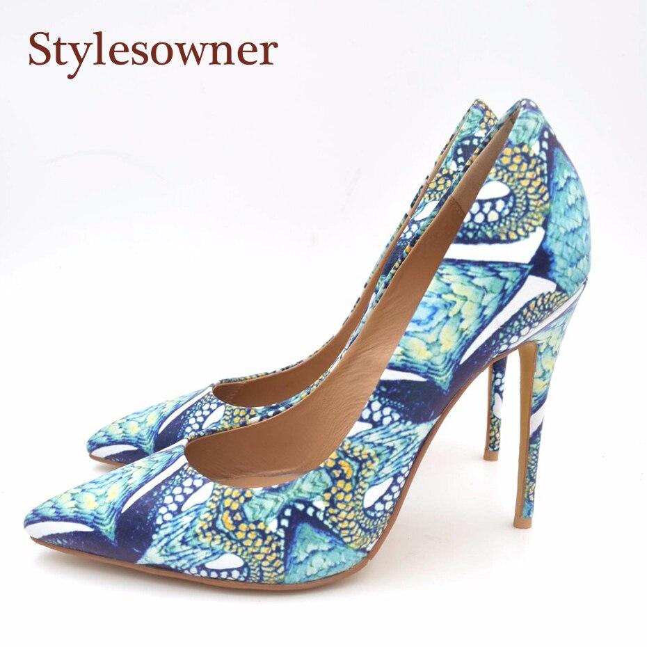 Stylesowner змеиной кожи женские туфли-лодочки обуви мелкой рот острый носок 2018 Новое поступление Демисезонный Chic обувь на шпильках Шлёпанцы
