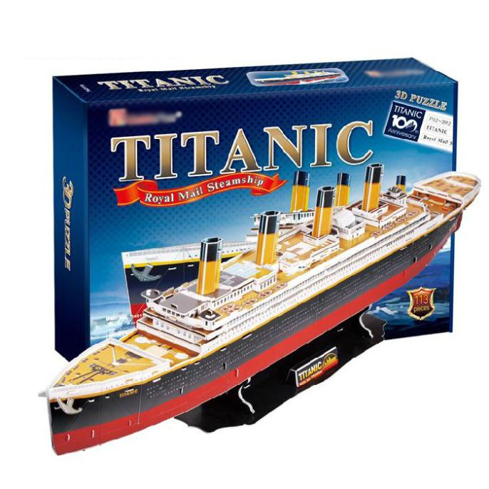 T0424 3D Puzzles Titanic ship DIY Paper Model kids Creative gifts Children Educational toys Deluxe edition цена