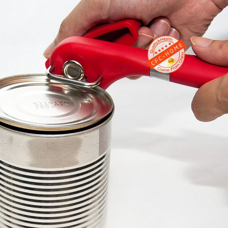 Heavy Duty Safety Manual Can Opener, Smooth Edge Side Cutting Feature, Won't Touch Food