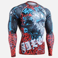 Life on Track Fitness Mens 3D Prints Long Sleeves Running Sport T-shirt Men Thermal Muscle Compression Shirts MMA GYM Top Gear