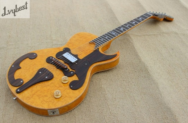 Electric guitar natural color bird eye top and back flame,rosewood tail and bridge and pickguard, and headstock