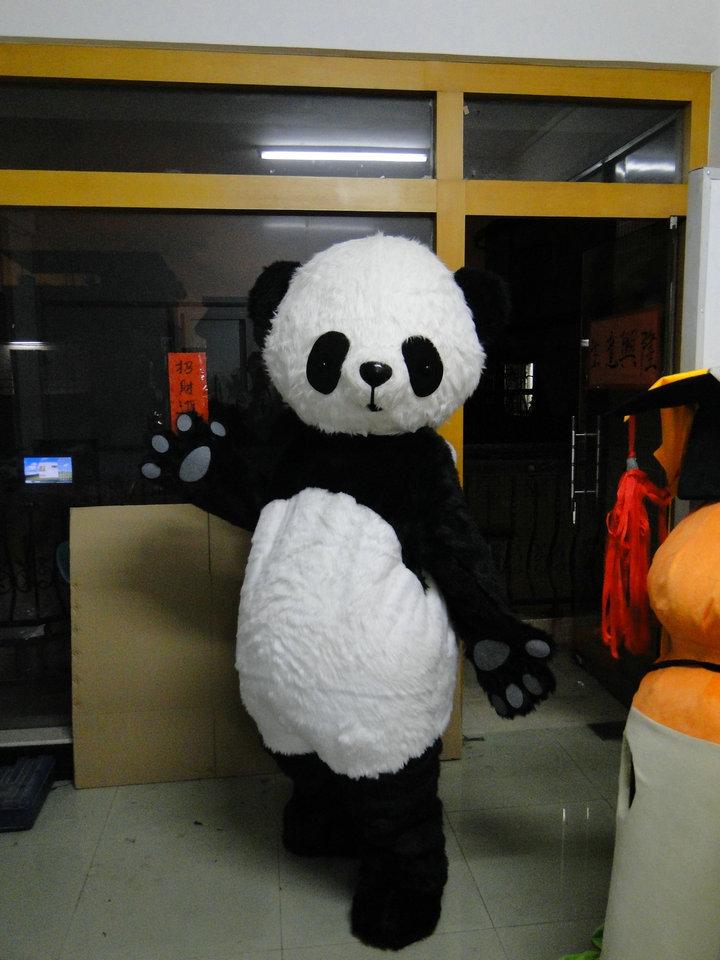 Panda Mascot Costume Cizgi filmi Panda sürətli göndərmə üçün - Karnaval kostyumlar - Fotoqrafiya 3