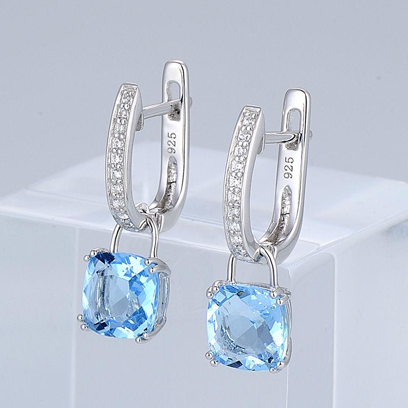 Image 3 - SANTUZZA Jewelry Set For Women Genuine 925 Sterling Silver Bridal  Shimmering Blue Crystal Earrings Ring Set  Fashion Jewelryset  finesjewelry bowjewelry plier set