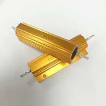 RX24 100 Вт Мощность металлический корпус алюминиевый Золотой резистор 1R 2R 3R 4R 5R 6R 8R 10R 15R 20R 30R 40R 50R 100R 200R 220R