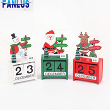 Wooden Snowman Christmas Desktop Decoration Advent Calendar Xmas New Year Gift Home Table Ornament Happy Merry Favors