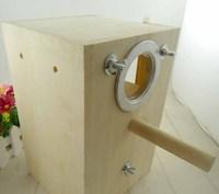 Bird breeding Nest Box Wood DIY Kit Parrot Cage Fitting Nesting Lock