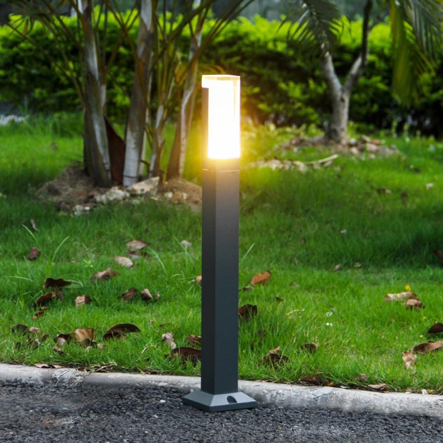 BEIAIDI Wasserdichte Acryl Led Landschaft Rasen Lampe Outdoor Garten Stehen Pol Spalte Licht Villa Gemeinschaft Pathway Säule Licht-in Gartenlampen aus Licht & Beleuchtung bei