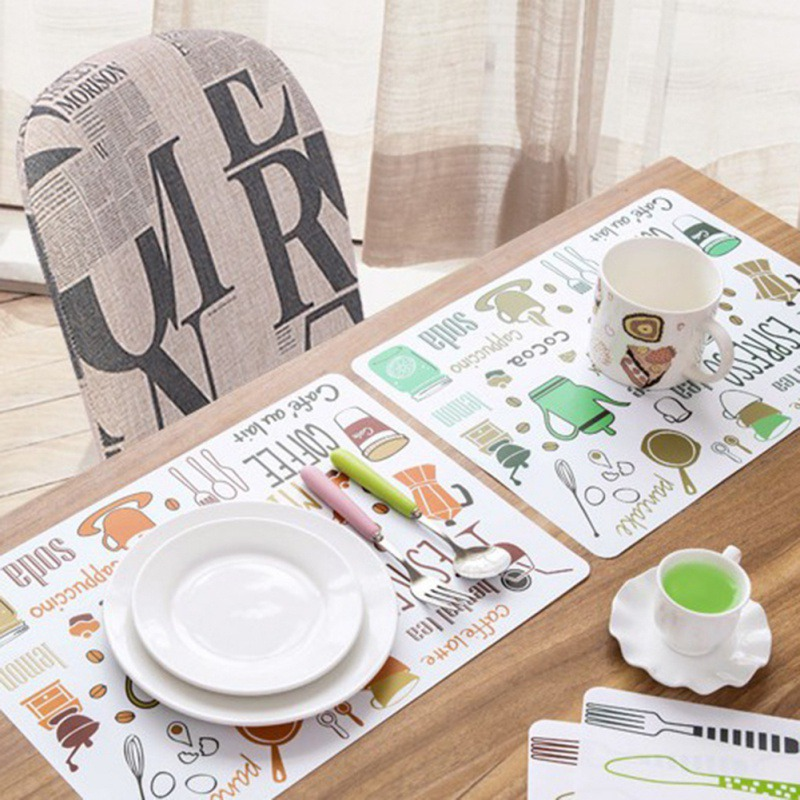 Placemat Dining Table Mat Disc Pads Bowl Pads Coasters Waterproof Table Cloth Pad slip-resistant Mats