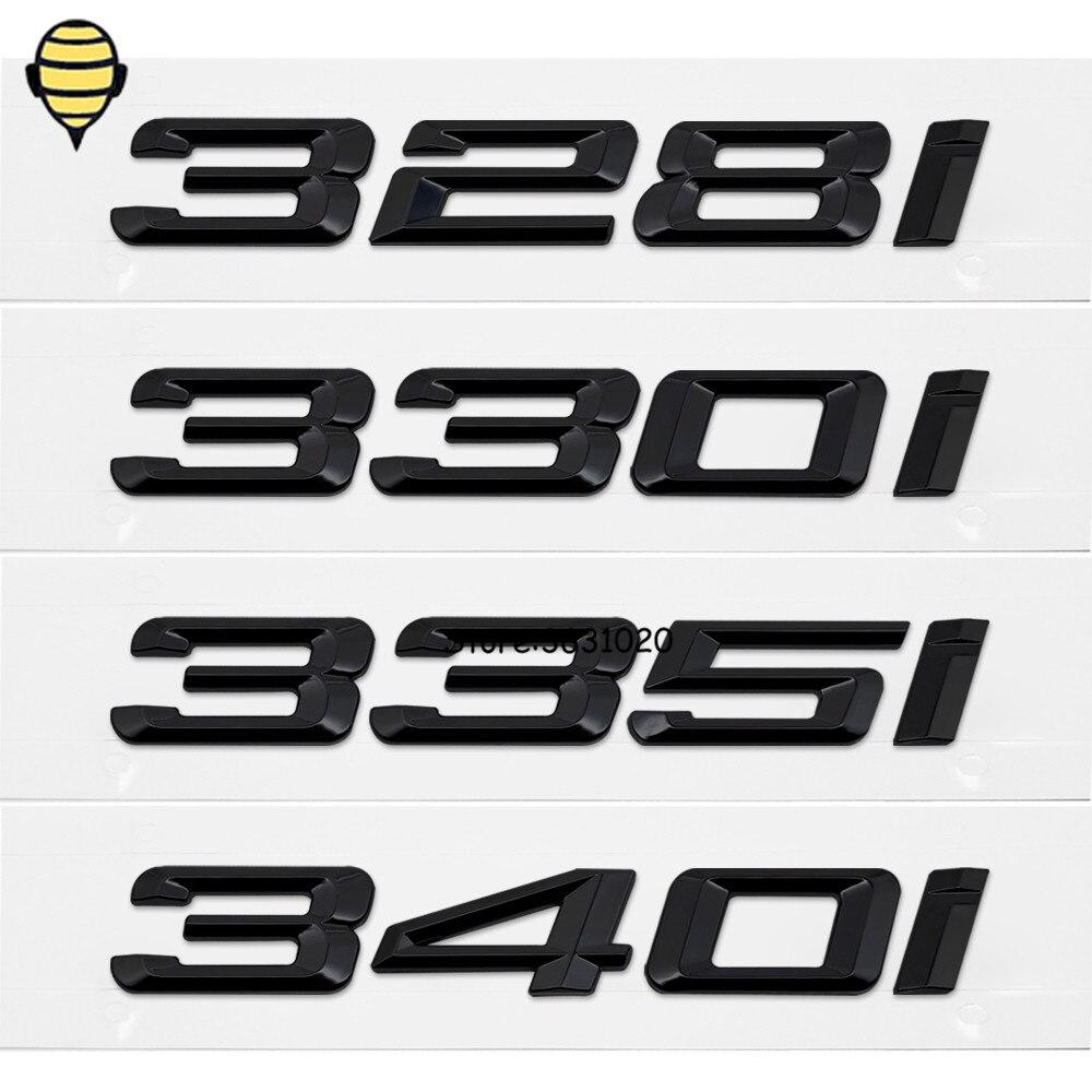 De Metal Estilo Do Carro Auto Etiqueta Do Emblema Do Emblema do Decalque Do Emblema 3D Carta Tampa Da Mala Traseira para BMW 328i 330i 335i 340i Série 3 GT X3 Z3 E39 E38