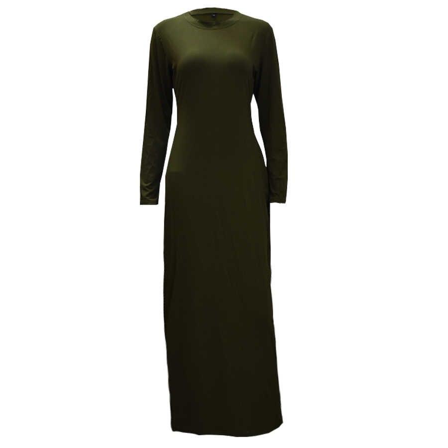 여성용 Abayas Kaftan 2019 속옷 코튼 롱 이슬람 무슬림 히잡 드레스 Abaya Dubai Jilbab Elbise 터키 이슬람 의류