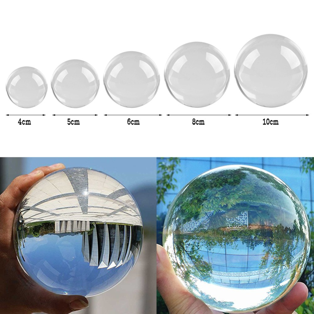 40-100mm Artificial Crystal Ball Feng Shui Ornaments Office/home/living Room Decoration Accessories Transparent Mini Glass Balls