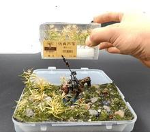 цена 1box 15pcs simulation reed grass military model war chess platform diy scene sand table system for Scenario model