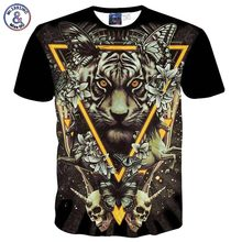 Mr.1991INC Europe and America Fashion Men/women 3d t shirt print Triangle tiger skulls butterfly tshirt summer tops flowers B18