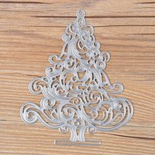 Hot Christmas Tree Cutting Dies Stencil Scrapbooking Embossing Album Paper Card Gift(China)