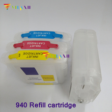 For hp940 Refillable Ink Cartridge For HP 940 for hp Officejet Pro 8500 8500a 8000 A809a A811a A809n A910 A909b A910a printer 940xl 940 hp940 refillable ink cartridge for hp officejet pro 8000 8500 8500a for hp premium 4 color dye ink 400ml