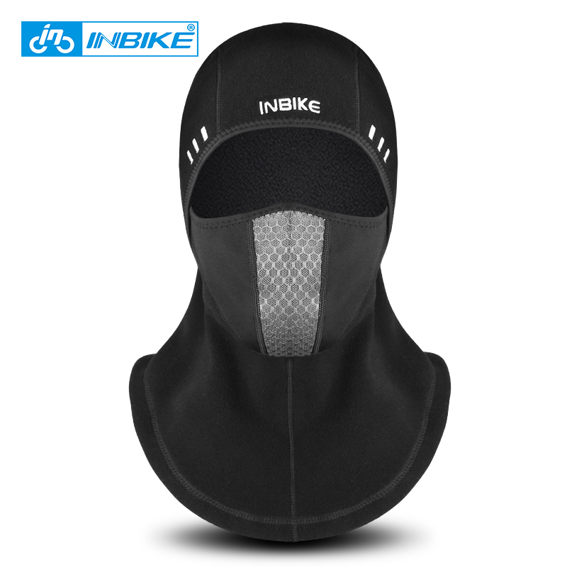 INBIKE Winter Cycling Face Mask Ski Cap Bike Face Thermal Fleece Scarf Men Half Face Mask Snowboard Shield Hat Bicycle Headwear