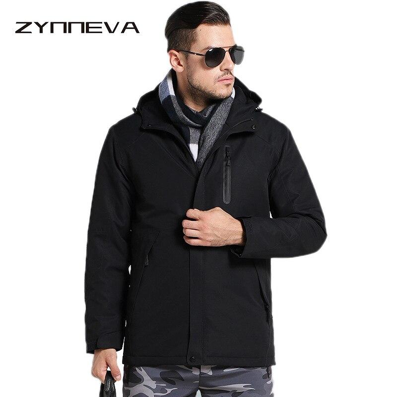 ZYNNEVA Ourdoor для мужчин пеший Туризм Отопление куртки зима перо хлопок Подогрев ветровка углерода волокно термальность одежда GK2116
