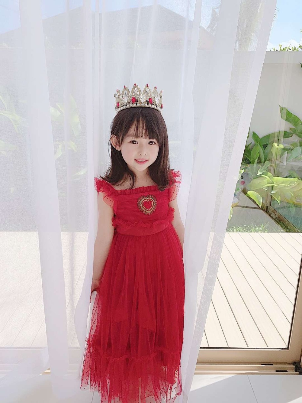 Girls 2019 new red party fashion dressGirls 2019 new red party fashion dress
