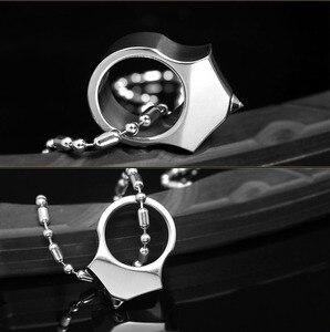 Image 4 - Wysokiej jakości stal wolframowa samoobrona dostarcza pierścień kobiety mężczyźni survivalowy pierścień bezpieczeństwa na palec z narzędziem łańcucha