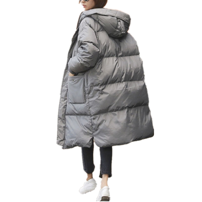 Winter Jacket Women Coat   Parka   Warm Hooded Long Sleeve Jacket Coats Thick Long Outerwear Plus Size Casaco Feminino   Parkas   Q791