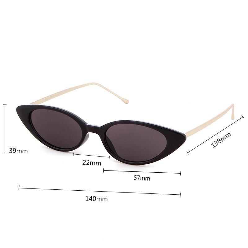 38cb1d94b6 WHO CUTIE 2018 Cat Eye Sunglasses Women Skinny Narrow Sunnies Cateye Frame  Vintage Retro Slim Tiny Sun Glasses Red Shades OM581-in Sunglasses from  Apparel ...
