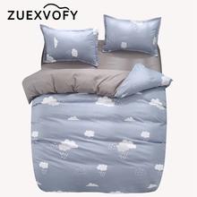 Pościel do łóżeczka zestawy odzieżowe dla niemowląt dzieci dzieci maluch dziecięce łóżeczko kołdra kołdra pokrywa zestaw 2 sztuk zestaw łóżko – zestaw pościel chmury tanie tanio ZUEXVOFY Brak Zestawy Kołdrę quality Tkanina z mikrofibry Drukowane Proste Domu Druk reaktywny Scenic 1 0 m (3 3 stóp)
