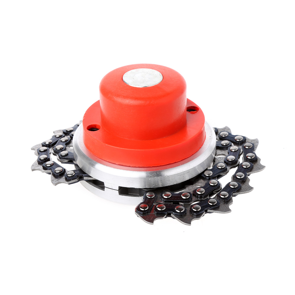 Alert Universal Trimmer Head Coil Chain Brush Cutter Garden Grass Trimmer Head Upgraded With Thickening Chain For Lawn Mower Less Expensive Grass Trimmer Garden Power Tools