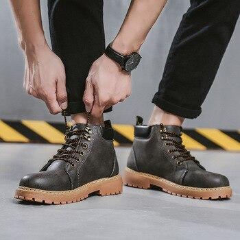 6532167bd Masorini безопасная обувь Высокие сапоги для человек резиновые полусапожки  обувь высокого качества мужские военные ботинки Лесоматериалы