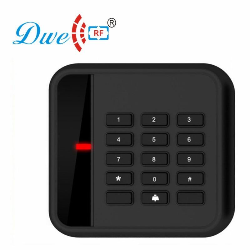 DWE CC RF Keypad RFID Reader 125khz Access Control System Card Reader Waterproof RFID Scanner D702A waterproof touch keypad card reader for rfid access control system card reader with wg26 for home security f1688a