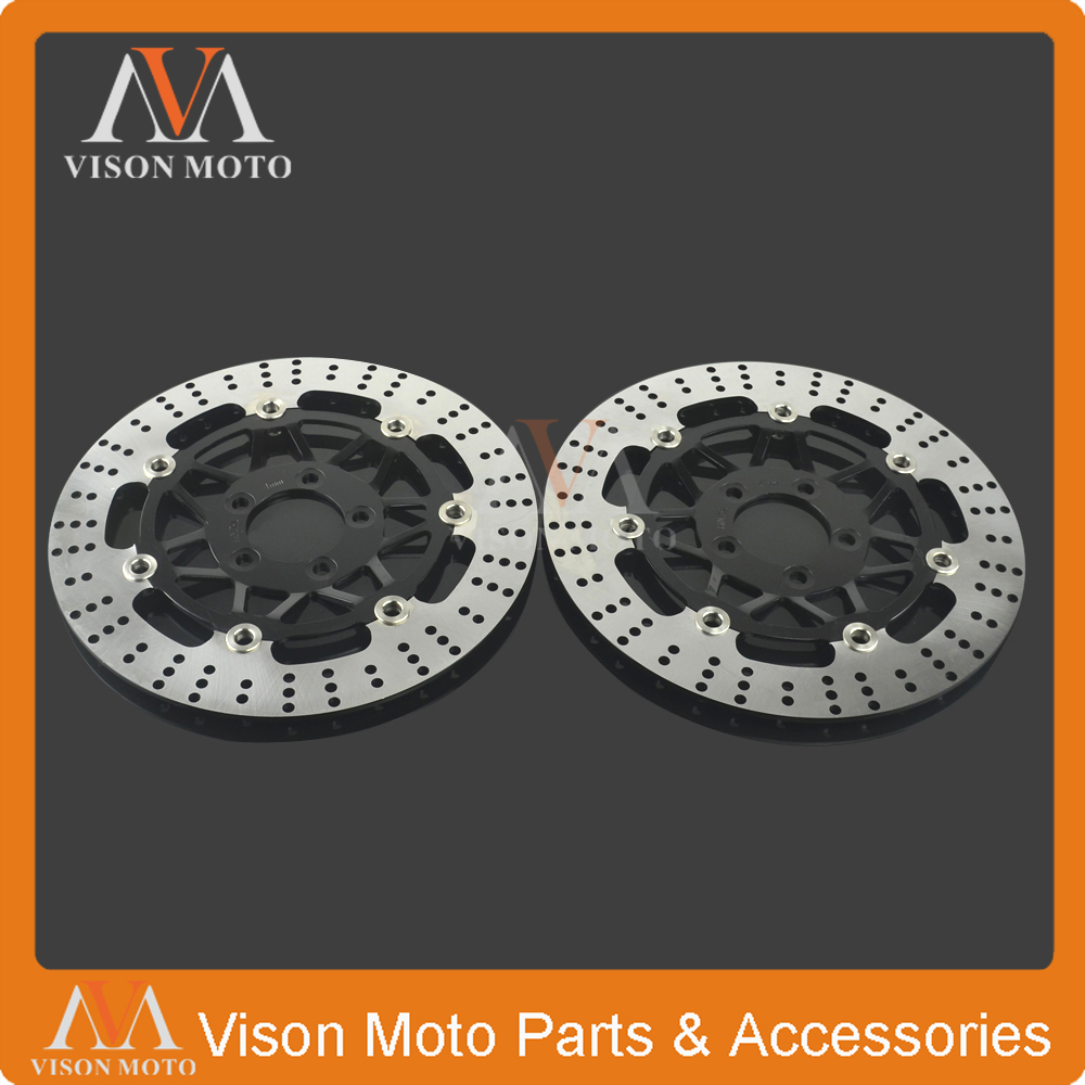 2PCS Front Floating Brake Disc Rotor For KAWASAKI GTR1000 GTR 1000 94-06 Z1000 Z 1000 03-06 GPZ1000 GPZ 1000 94-97 ZX12R NINJA 94 95 96 97 98 99 00 01 02 03 04 05 06 new 300mm front 280mm rear brake discs disks rotor fit for kawasaki gtr 1000 zg1000