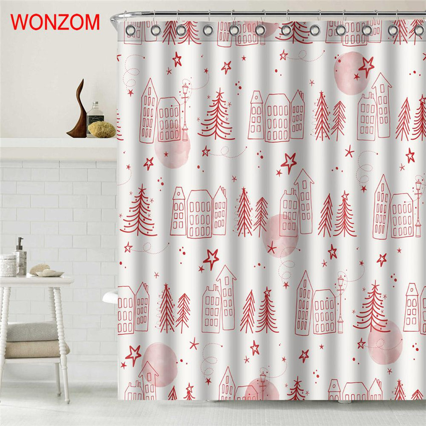 Aliexpress.com : Buy WONZOM Shower Curtain Bathroom Decor ...