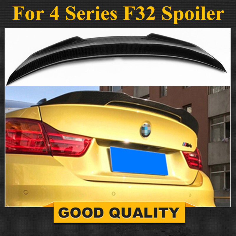 F32 Carbon Fiber Rear Spoiler Wing PSM Style Trunk Boot Lip For BMW F32 4 Series 2-door Coupe 2014 - present p style for bmw f32 spoiler carbon fiber material 4 series coupe f32 carbon spoiler 2 door carbon wings 2014 2015 2016 up