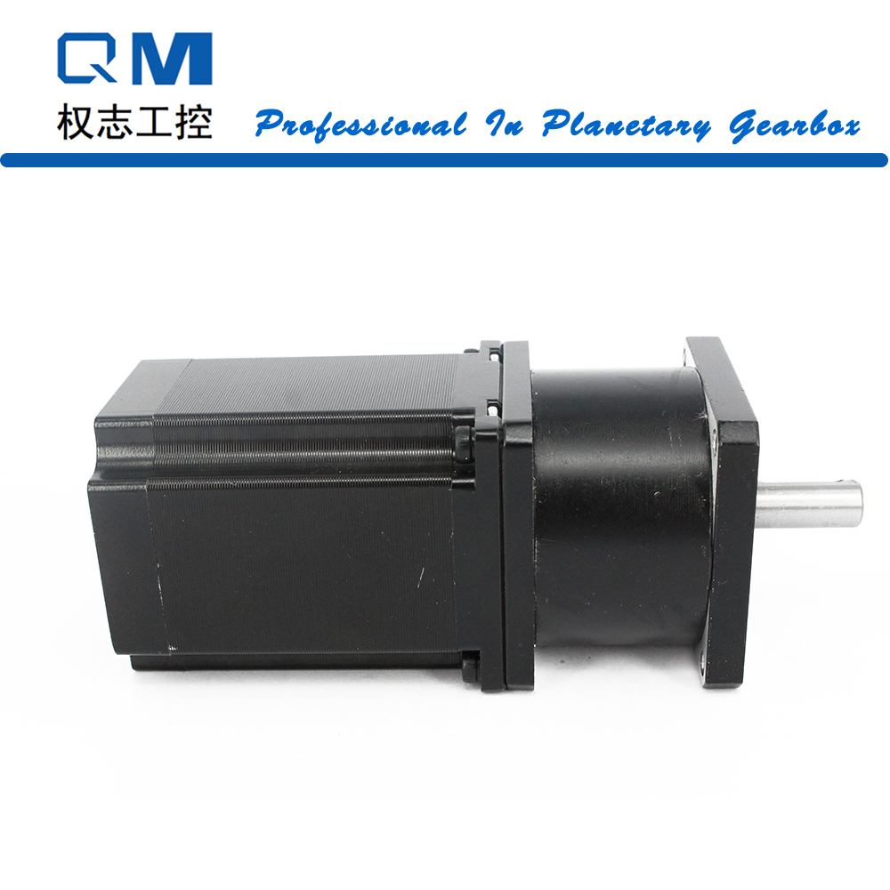 Gear stepper motor planetary reduction gearbox ratio 5:1 nema 23 stepper motor L=77mm cnc robot pump ratio 10 1 gear stepper motor nema34 stepping motor with gearbox 3nm 4a 86byg l66mm shaft 15mm for cnc router new