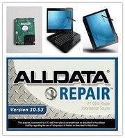 Auto naprawa oprogramowania alldata wszystkie podręczniki transmisji danych 10.53 i mitchell na żądanie + atsg 1 tb hdd x201t laptopa i7 4g windows7