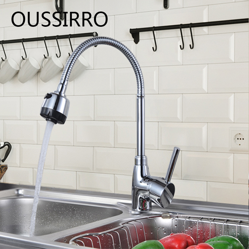 360 Degree Steering Kitchen Faucet Cold And Hot Kitchen Tap Single Hole Water Tap Kitchen Bathroom