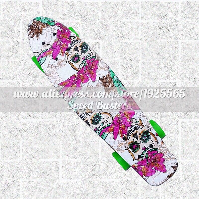 2018 Новый Многоцветный peny доска, скейтборды полный Ретро elektroscooter мини Лонгборд коньках рыбы скейтборд Бесплатная доставка ...