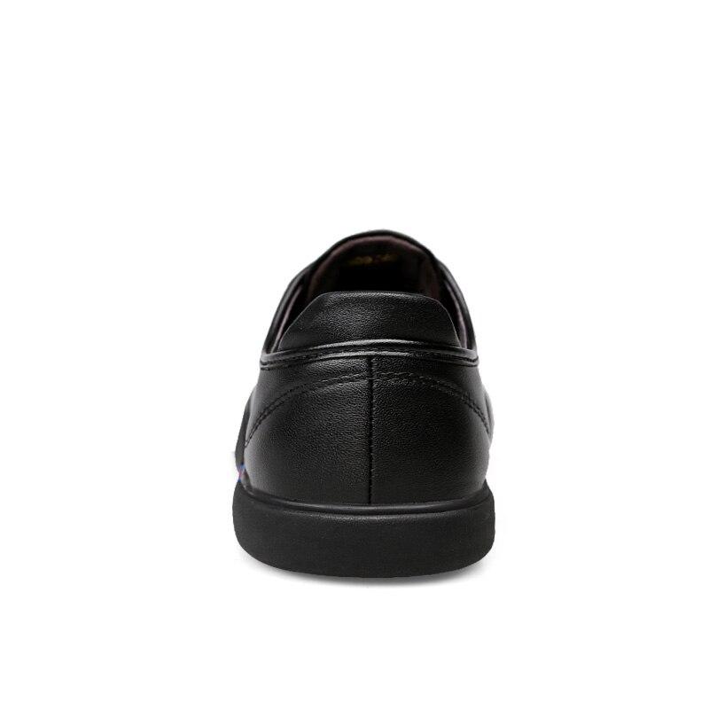 36 Respirant De Occasionnels Cuir Grande Mode Mocassins Véritable En Chaussures Hommes 46 Marque Casual Pour Noir blanc Taille 6qqnBRSx