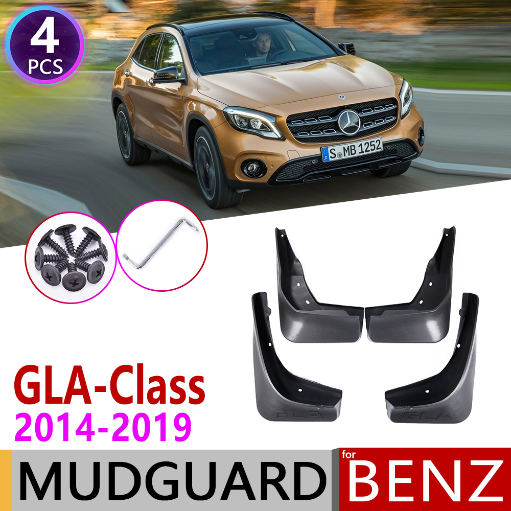 Mudflap for <font><b>Mercedes</b></font> Benz <font><b>GLA</b></font> Class W156 2014~2019 180 200 220 250 260 <font><b>45</b></font> <font><b>AMG</b></font> Fender Mud Guard Splash Flap Mudguard Accessories image