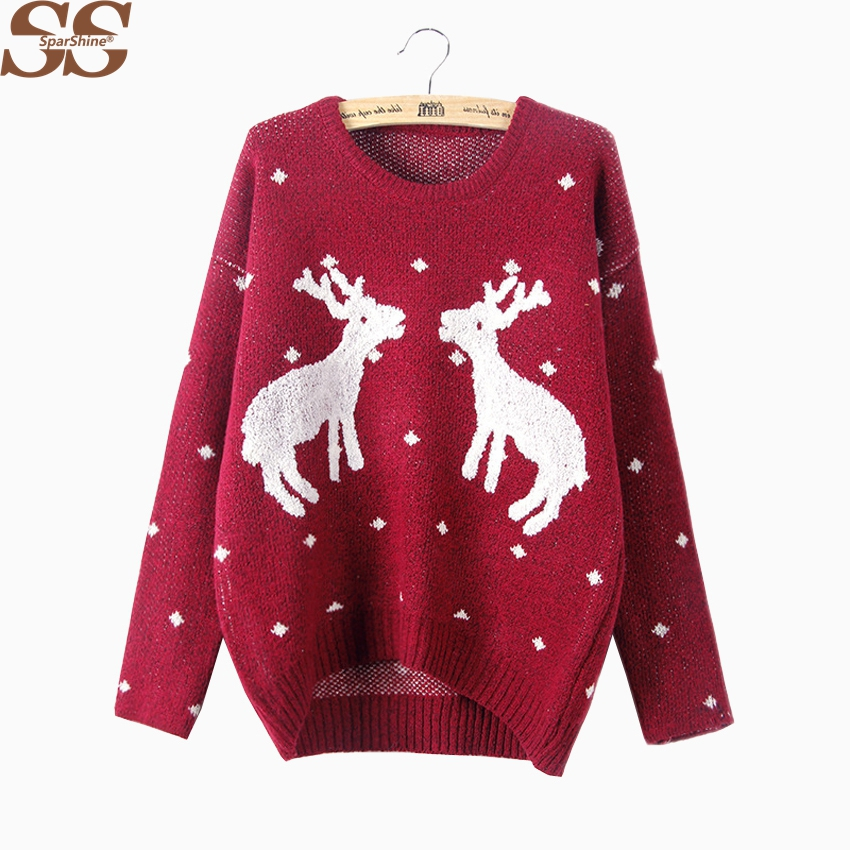 SPARSHINE SS Christmas Sweater Women Pullover Jumper Knitted Sweaters Full Femme Women Fall Winter 2017 Fashion Sweaters