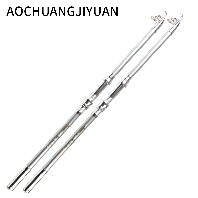 High Performance Sea Fishing Pole High Quality Carbon Fiber Telescopic Fishing Rod 2.1/2.4/2.7/3.0/3.6m