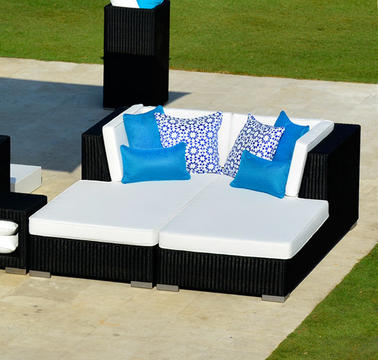 2017 outdoor furniture resin rattan garden lounge bed sg 180c - Garden Furniture 2017 Uk