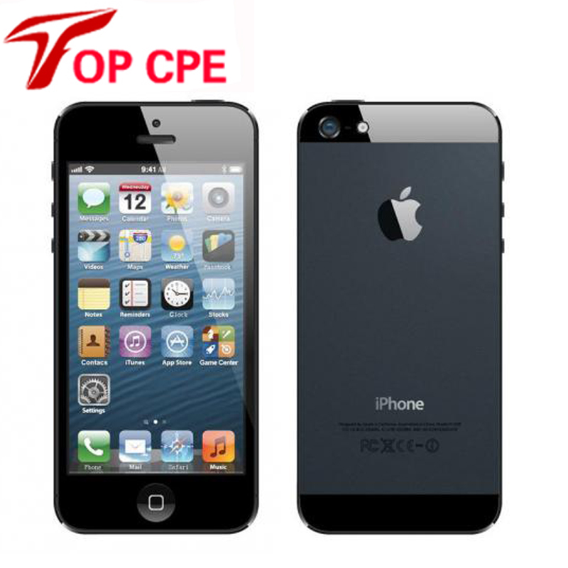 Iphone 5 Factory Unlocked original Apple Iphone 5 Cell phone 16GB/32GB/64GB IOS 4.0 inch in Sealed box add glass film gift