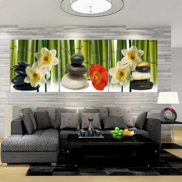 Creative Toile Peinture Trois image Combinaison Peintures Paysage ...