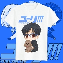 Envío Libre YURI! el ice victor katsuki yuri yuri hombres mujeres camiseta corta ocasional modal de anime cosplay