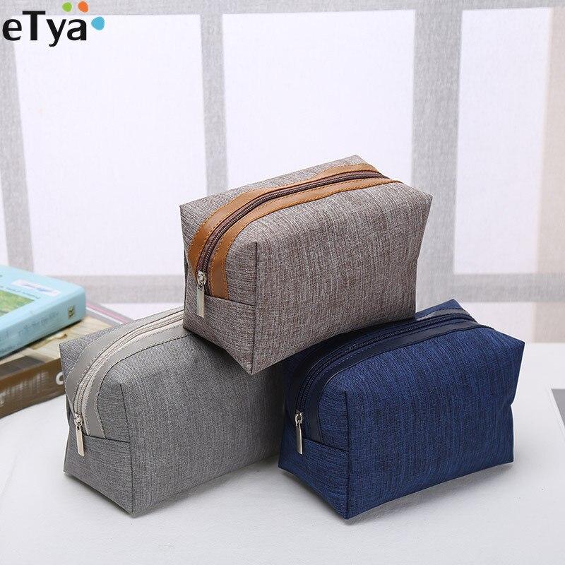ETya Women Men Travel Cosmetic Bag Multifunction Zipper Small Makeup Toiletry Bag Organizer Case Make Up Wash Pouch