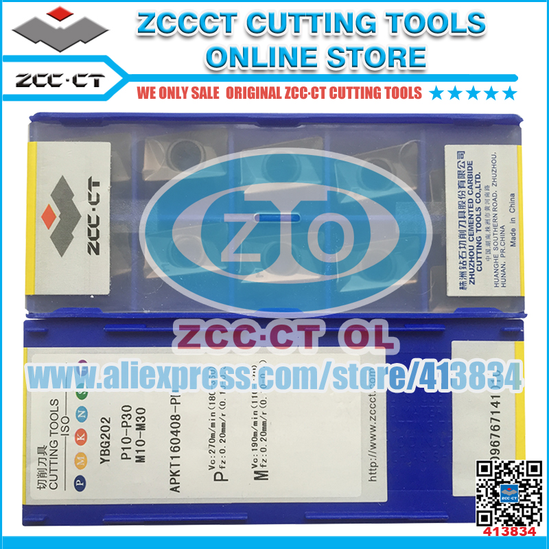 ZCCCT cutting tools cnc milling cutter and turning inserts 1 pack