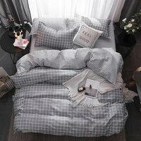2018 Winter Modern style Bedding Set Polyester Duvet Cover set flat Sheet Pillowcase Twin Full Queen King bed set 3/4 Pcs